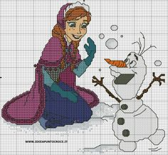 SCHEMA ANNA FROZEN E OLAF