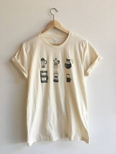 Coffee T-Shirt Food Shirt Coffee Screen Printed T Shirt Clothing Gift Foodie Gift Coffee Gift Soft style tee - Graphic Shirts - Ideas of Graphic Shirts - Coffee Shirt Food Shirt Coffee Screen Printed T Shirt by andMorgan Screen Printing Shirts, Printed Shirts, Printing Ink, Printing Process, Look Patches, Lange T-shirts, Coffee Gifts, Mode Inspiration, Graphic T Shirts