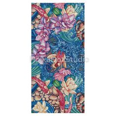 Orchid Splash Sticker by Polka Dot Studio l Redbubble l An original hand painted #watercolor, tranquil, #zen, #koi splashing over a #stream of #flowers, #lilies, #orchids, and #rocks. Available on a wide variety of products for #apparel, #home or #tech.