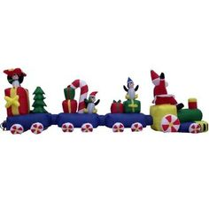14 santa train with penguins and presents christmas inflatable all aboard the new 2013 santa