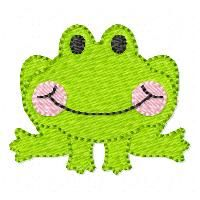 See It All :: Filled Frog Mini - Embroidery Boutique