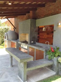 "Acquire terrific ideas on ""outdoor kitchen countertops grill area"". They are actually offered for you on our web site. Outdoor Kitchen Sink, Outdoor Kitchen Countertops, Outdoor Kitchen Design, Outdoor Kitchens, Outdoor Rooms, Outdoor Living, Outdoor Decor, Rustic Outdoor, Parrilla Exterior"