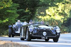 Photo gallery from the 2013 Pebble Beach Tour d'Elegance, held August starting at the Pebble Beach Equestrian Center in California. Aston Martin Db3, Aston Martin Lagonda, Sport Cars, Race Cars, Classic Cars British, Cool Garages, Automobile Companies, Pebble Beach, Concept Cars