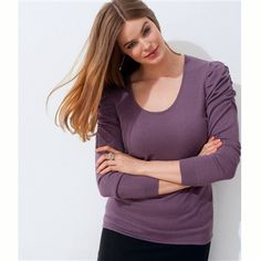 Sweater with Leg of Mutton Sleeves Black+Purple/clover Leg Of Mutton Sleeve, Sexy Lingerie, Plus Size, Legs, Purple, Pretty, Sleeves, Sweaters, Outfits