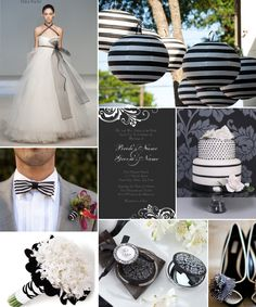 Black and White Chic Inspiration Board