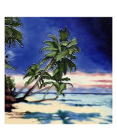 Another great find on #zulily! Palm Tree & Beach Scene Garden Art Tile #zulilyfinds