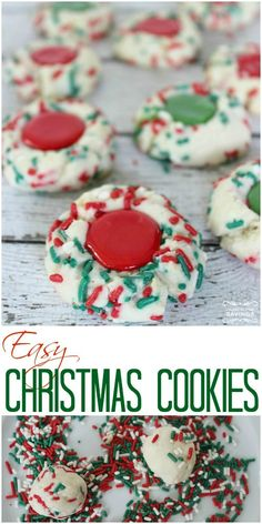 Easy Christmas Cookies Recipe | Red & Greens Cookies!