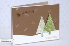 Stampin' Up! - Weihnachtskarte - Schüttelkarte - Shaker Card - Christbaumfestival - Aus dem Häuschen - Sterne - Glitzer ❤ Stempelwiese