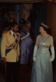 Emperor Haile Selassie of Ethiopia and Queen Elizabeth II of the United Kingdom