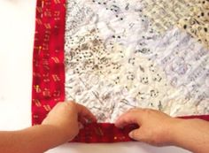 easy quilt binding instructions...using backing as binding