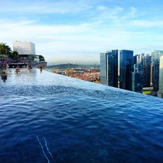 Poolside view at Marina Bay Sands, Singapore. Photo courtesy of opentheglobe on Instagram.