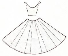 Template for Dress Card: