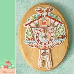 cuckoo clock embroidery | ... :: Sewing & Needlework Patterns :: Cuckoo Clock Embroidery Pattern