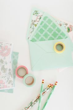 Cute paper products: http://www.stylemepretty.com/living/2015/08/18/22-tricks-to-make-your-office-somewhere-you-enjoy-spending-time-in/