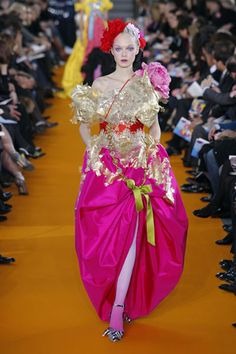 Christian Lacroix Couture Spring 2008 ~ showcasing a highly stunning Schiaparelli pink