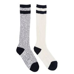 NWT marled cozy black and white boot socks Includes two pairs of socks Accessories Hosiery & Socks