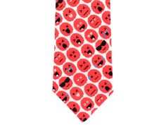 Skinny Tie - Brain Emoji - Red by handmadephd. Explore more products on http://handmadephd.etsy.com