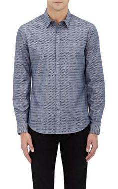 THEORY Zack PS Leaf-Print Cotton Shirt. #theory #cloth #shirt