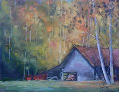 "Landscape Artists International: Art Sale, Painting on Sale, ""Half-way up the Mountain"" by Carol Schiff, 11x14"" Oil"