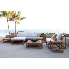6pc Maya Teak Daybed U0026amp; Sofa Set Teak Outdoor Furniture, Modern Outdoor  Sofas,
