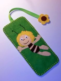 Felt bookmark Maya the Bee