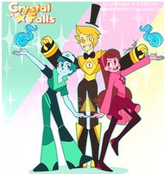 The main gems. Dipdrite, Madrite and Billmond Ciphstone. Gravity Falls Gems AU. ? Luna ?
