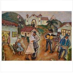 ANITA MALFATTI (1889 - 1964) Casamento caipira óleo s/ tela 45 x 54 cm ass. inf. direito e verso Reproduzido no livro/catálogo da Exposição individual da artista no Museu Oscar Niemeyer em 2012, à página 98 (acompanha o livro). Registrado no Projeto   TNT Arte Galeria  22 de setembro às 20:30hs www.iarremate.com  #copacabana #galery #galeria #design #decor #anitamalfatti #paisagem #festa #casamento #arte #art #tnt #tntartegaleria #riodejaneiro #bid #remates #leilaodearte #leilaoonline