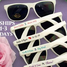 SET Wedding Sunglasses Beach Wedding Favor Personalized