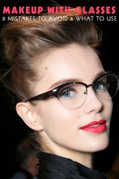 Wear glasses? Check out these tips for makeup with glasses. #beauty