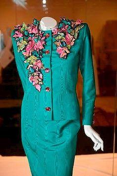 An Yves Saint Laurent evening suit with Lesage embroidery. Photo: Pat Scala www.theage.com.au/entertainment/art-and-design/modern-love-a-fashion-exhibition-with-a-bent-for-the-theatrical-20131212-2za4f.html