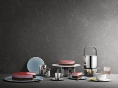 Tea set by Scholten & Baijings for Georg Jensen, 2013.