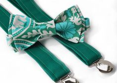 Pageboy bow-tie and suspenders