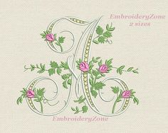 Monogram letter A from beautiful alphabet from old book. Font A Embroidery design. Litera A. Hoop 5x7 & 6x10. Two sizes.