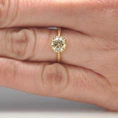 New York, NY Jewelry, engagement rings - Leigh Jay Nacht - Replica Edwardian Engagement Ring - 3206-08