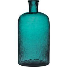 H&M Large glass vase - teal decor
