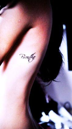 tattoo placements, tattoo ideas, rib, breath tattoo, font, quote tattoos, tattoo patterns, quot tattoo, ink