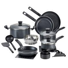 T-fal Initiatives 18 Piece Cookware Set