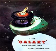 """""""Galaxy"""" four-speed multi-record changer from STAAR, 1952. The same model was licensed out to Zenith and their model was called the S.9017."""