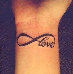 Infinity love tattoo