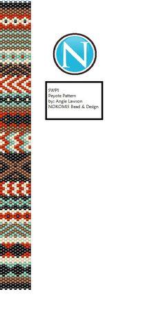SWP1 Peyote Stitch Bracelet Pattern Digital Download by NokomisBeadAndDesign on Etsy