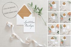 Invitation Mockups | Bundle of 8 by TwigyPosts on Creative Market
