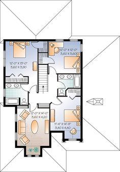 Second Floor Plan of Florida   Mediterranean   House Plan 76130