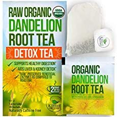 Dandelion Root Tea Detox Tea - Raw Organic Vitamin Rich Digestive - 1 Pack Bags, 2 grams each) - Helps Improve Digestion and Immune System - Anti-inflammatory and Antioxidant Muscle Pain Relief, Back Pain Relief, Dandelion Root Tea, Diastasis Recti Exercises, Sciatica Pain, Scoliosis, Upper Back Pain, Psoas Muscle, Lymphatic System