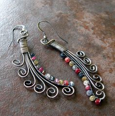 Wire earrings, DIY jewelry inspiration