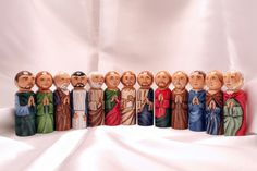 The Last Supper, Catechesis of the Good Shepherd Play set - made to order - Catholic Saint Wooden Peg Doll Toy by StLukesBrush on Etsy https://www.etsy.com/listing/92662359/the-last-supper-catechesis-of-the-good