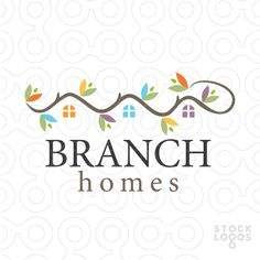 Branch Homes - Real Estate / Staging logo by MW Creative Design / Maria Williams