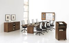 Preside conference series is a versatile conference table solution for collaborative meetings and presentations for conference rooms to small common areas. Hon Office Furniture, Office Furniture Warehouse, File Cabinet Desk, Filing Cabinet, Conference Table, Conference Meeting, Table And Chairs, Tables, Common Area