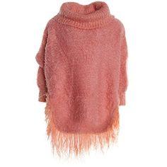 #Mädchen #Strick #Poncho #Stola #Pullover #Rollkragen #Hoodie #Girl #Kinder #Winter 20763, #Farbe:Orange