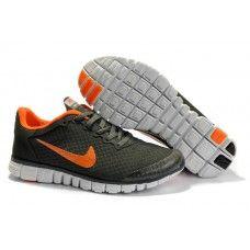 100% ekte Nike Free 3.0 V2 Mann running Sko Deep Grå/orange online{F2dGcS}