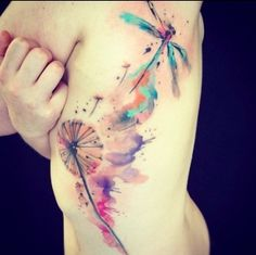 watercolor tattoo - I actually really like these.